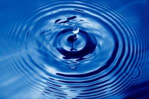 water droplet emerging